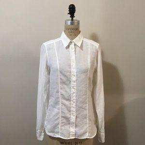 Calvin Klein Collection White Linen Shirt